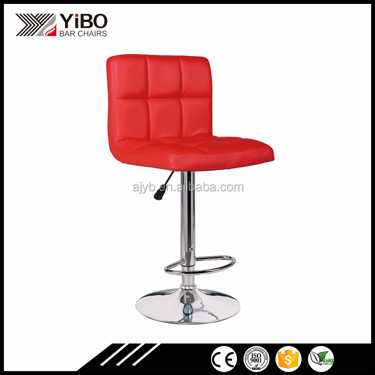 modern cheap furnitue pu leather bar stool with back