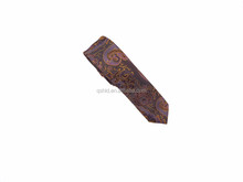 Paisley 100% woven silk neck tie High quality good price custom for men