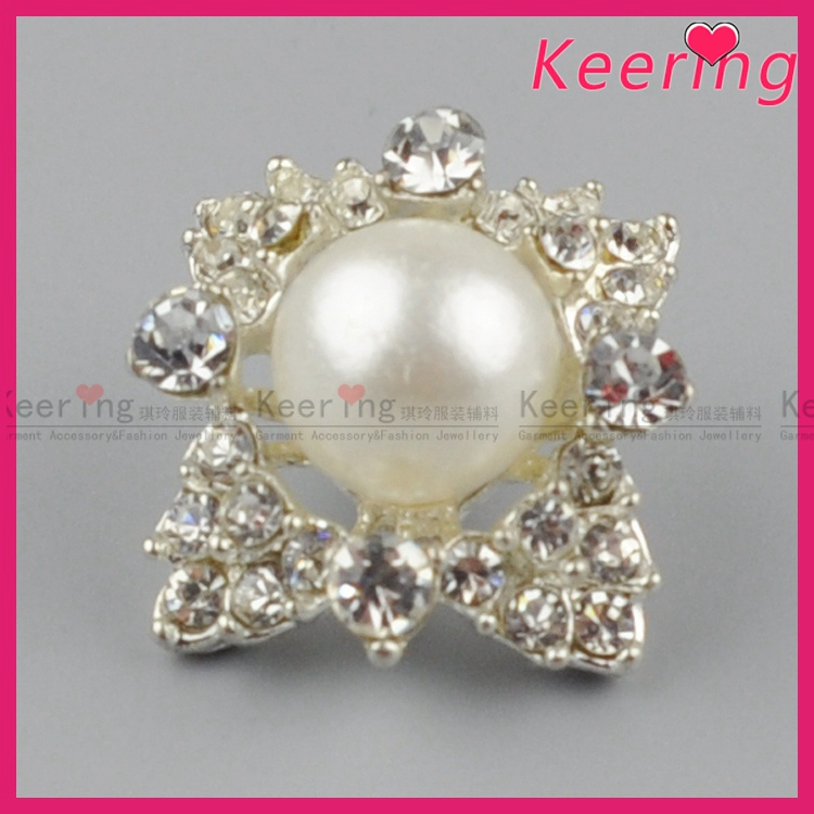 Keering-made vogue fancy rhinestone buttons for clothing WBK-1457