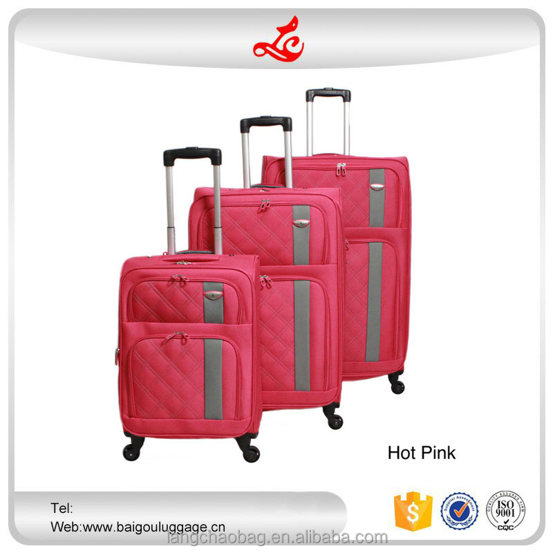 "2016 hot selling trolley luggage for market 20""24""28"" expensive luggage nylon designer bags luggage"