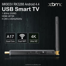 MK903V RK3288 Android TV Box Quad Core 1.8GHz 2G/8G XBMC HDMI 4K*2K H.265 2.4GHz/5GHz Dual WiFi OTG USB Smart TV Box Android
