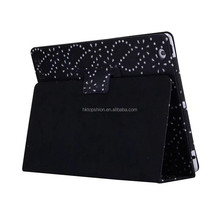 Glitter design for ipad air 2 case black stand flip leather case cover