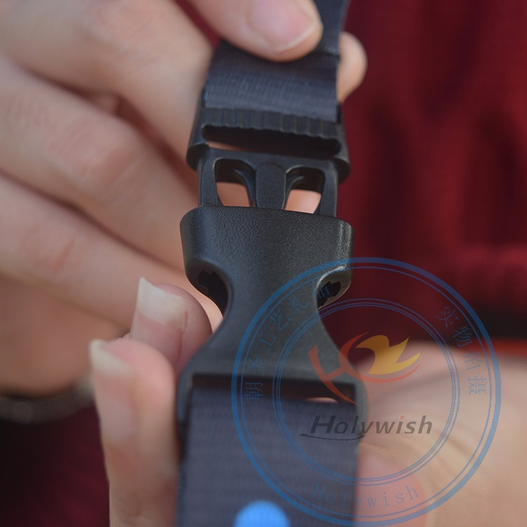 Wholesale plastic release buckle clasp,plastic insert buckle for lanyard