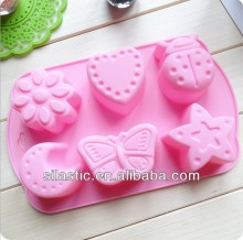 6-hole insect shaped chocolate silicone Moulds bakeware tools DIY cake mould ice-tray mold soap mould