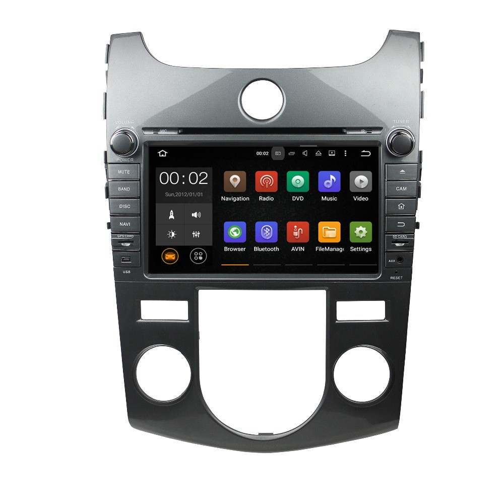 HD touch Screen 1024*600 2 din car DVD gps for KIA Cerato fort AT 2008 2009 2010 2011 2012