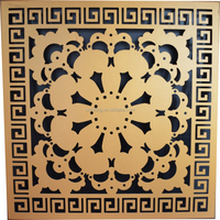 Fashionable Customized Pattern Aluminum Interior Acoustic Flower Carved Wall Paneling