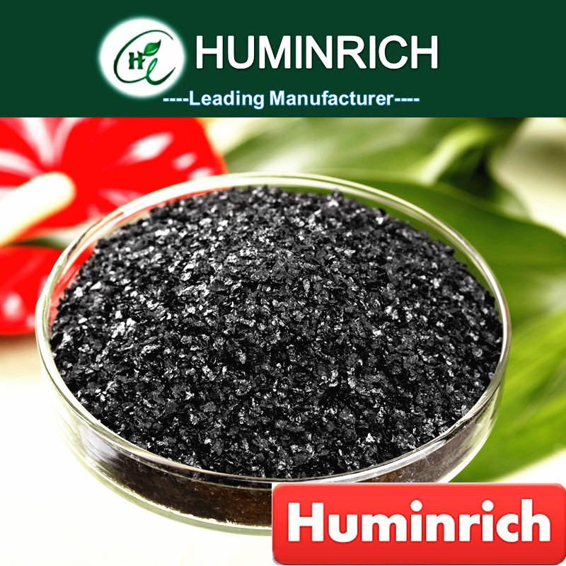 Huminrich Sodium Humate Black Shiny Flake Organic Cattle Feed Raw Material