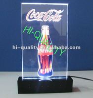 Acrylic Drink Light Sign Table tents/ Drink advertising LED signs Tent card