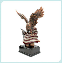 Antique home decoration resin eagle