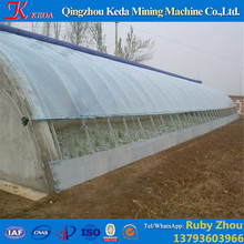 High Quality Tunnel Plastic Film Greenhouse with Hydroponic System