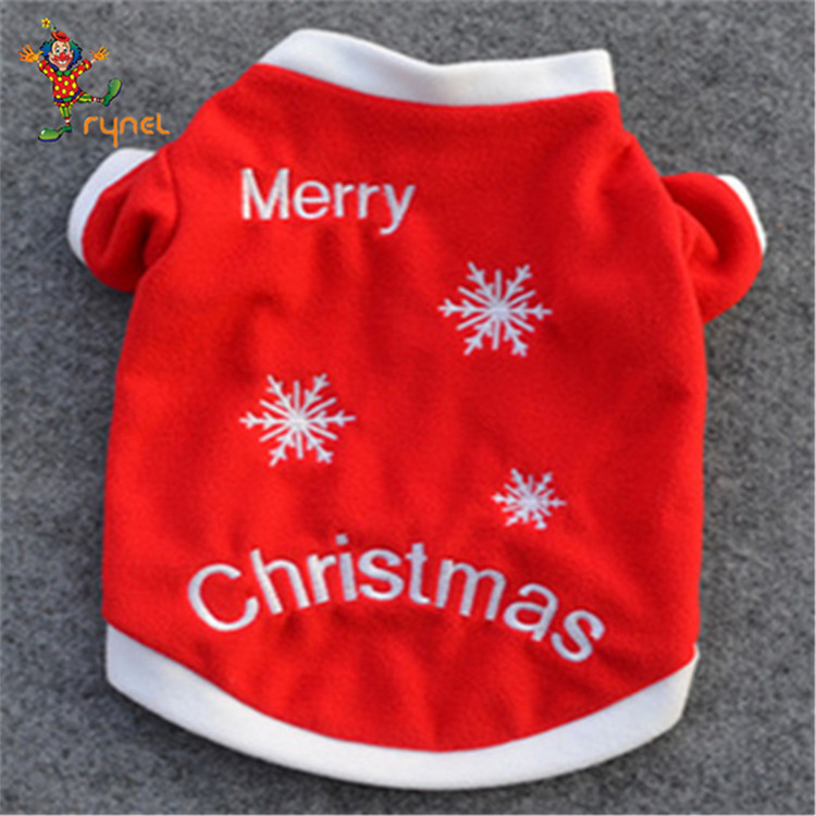 PGPC0332 Red Pet Dog Clothes Christmas Costume Cartoon Clothes For Small Dog Cloth Costume