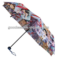 2014 painting design hot sex girl photos umbrella