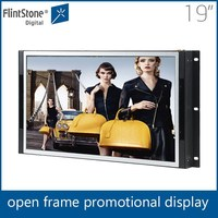15,19, 22 inch touch screen hdmi open frame, super TFT LCD color TV monitor, wall mout embedded screen panel LCD AD player