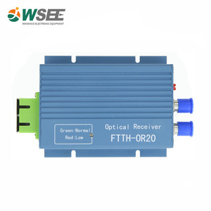 Online whole sale 860MHz CATV Fiber Optical media converter With agc and pon wdm