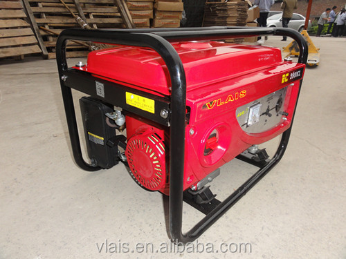 7.8KW 220V Recoil and hand operated Gasoline Generator EC8000CL