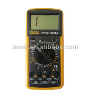 manual range digital multimeter dt9205a model with capacitance test/triode interface