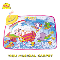 YIQU sea world musical crawling mat educational carpet baby play mat for Children