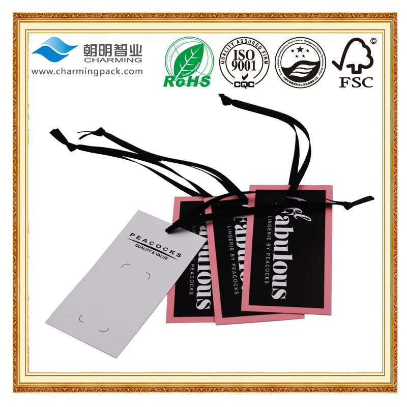 Customized professional customized design wood hang tag for garment with good price