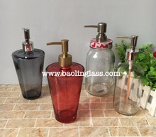 High quality liquid soap/septisol/conditioner pump glass bottle