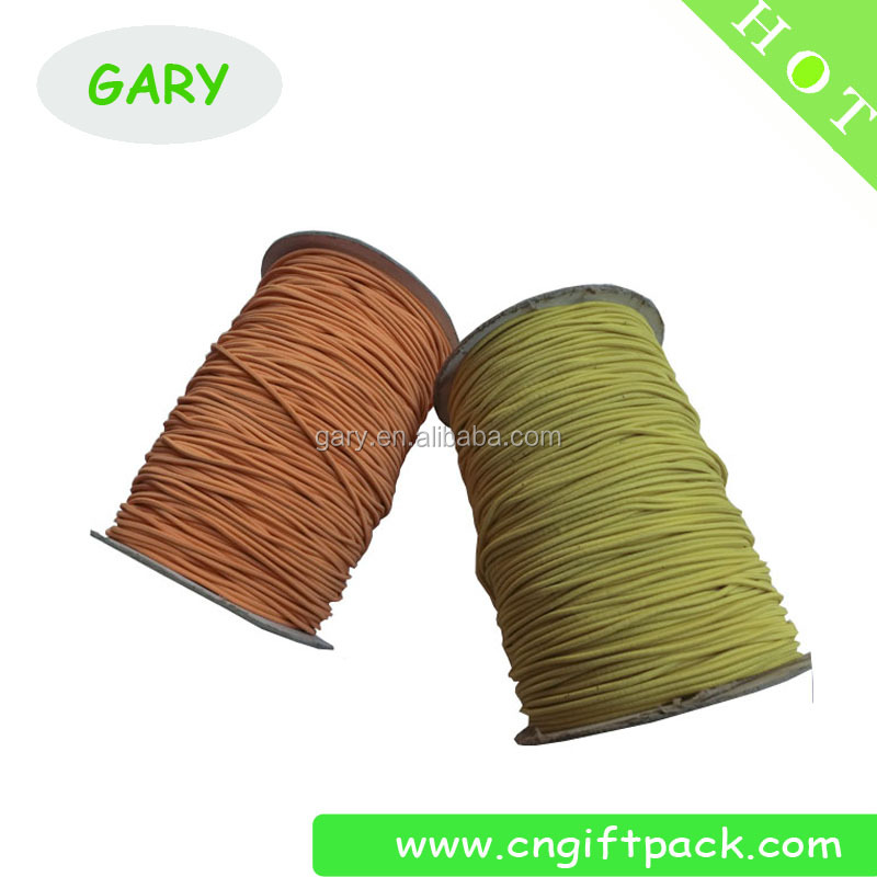 high strength elastic drawstring cord colour elastic cord