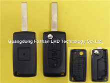 Best After-Sale folding remote blank cover key 3 button Peugeot 407 key CE0523