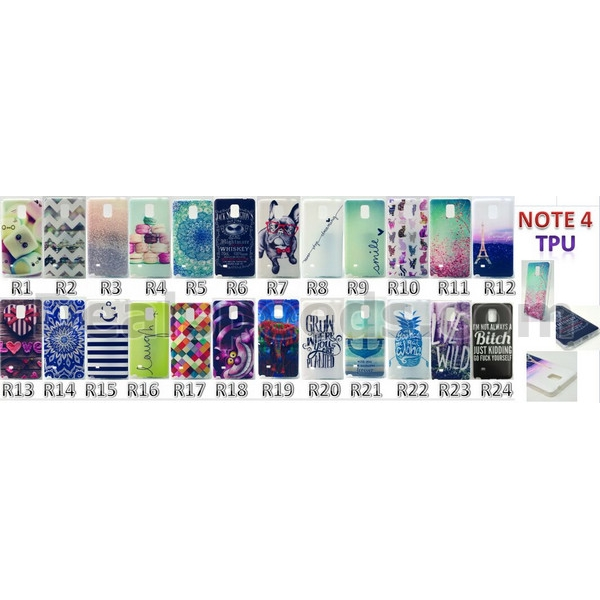Back Case TPU Cover for Galaxy Note 4 Case N910 (Cute Face)