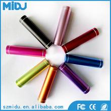 2016 hot selling gadets 3000mah mini lipstick colorful power bank charger