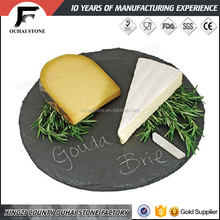 Various design and shapes natural slate stone material products square cheese board