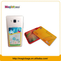 Cell phone cheap silicone rubber card holder,credit card holder