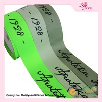 China manufacture custom printed polyester stain ribbon for gift packaging