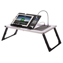 Multifunctional adjustable and foldable smart sofa laptop table