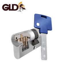 Tops high quality and security brass mortise euro interactive 7x7 door lock cylinder