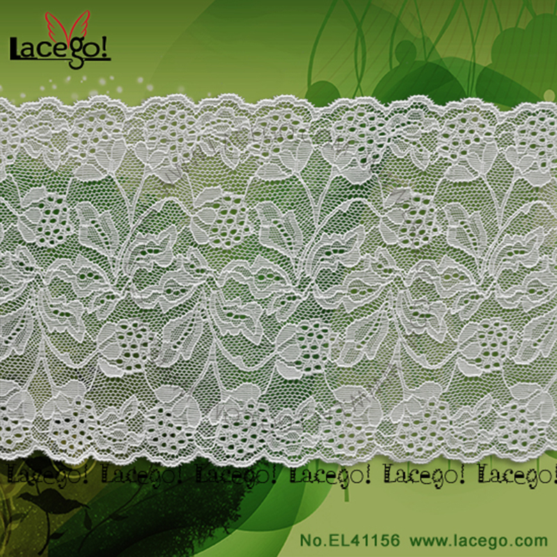 Knitted stretch jacquard lace with <strong>beautiful</strong> flower