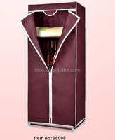 Portable small wardrobe closets/ assemble fabric wardrobe /diy portable closet wardrobe