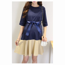 Korea casual style designer maternity dress soft cotton party dresses for pregnant women