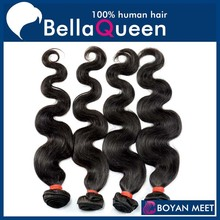 Best professional supply unprocessed remy brazilian hair weave 1b natural color