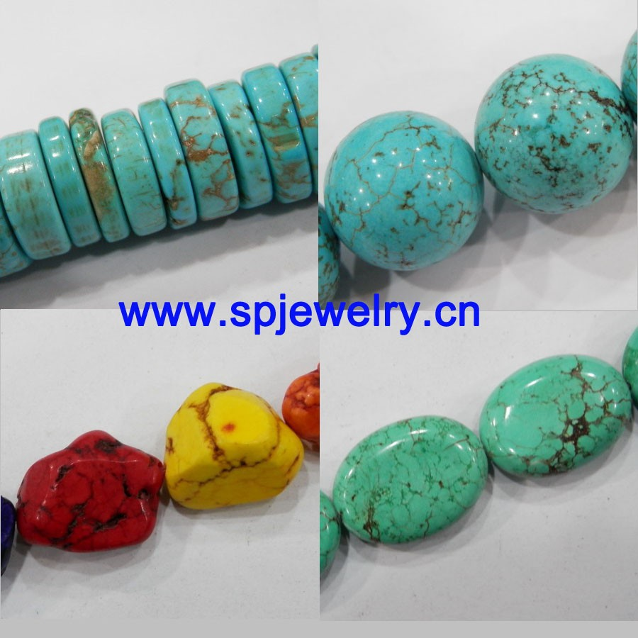 turquoise loose bead, round 4-20mm, many shapes for choice