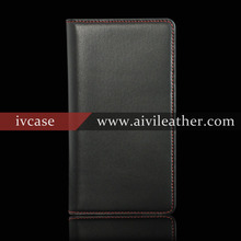 2016 best selling product in China first laywer cowhide leather for Microsoft Lumia 950 XL leather case