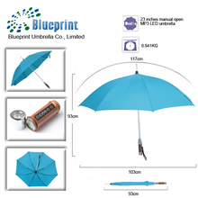 new invention 2014 mp3 led umbrella with lights and music