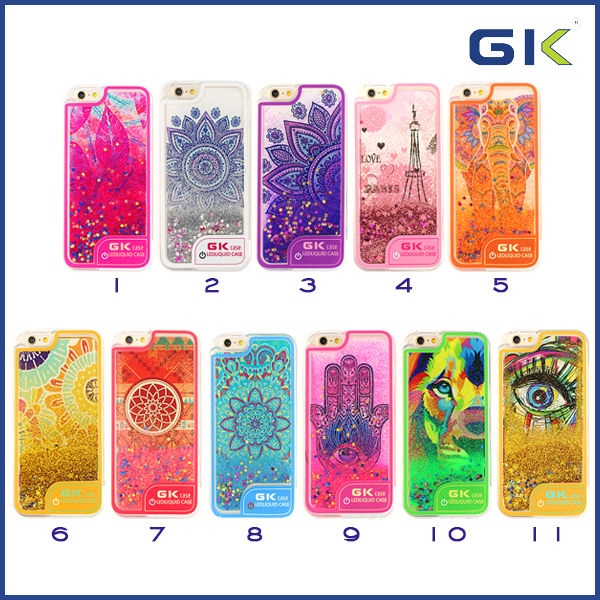 [GGIT] Fashion Ultra-thin LED Flash Light Liquid TPU Mobile Phone Case For IPhone 6 Back Cover