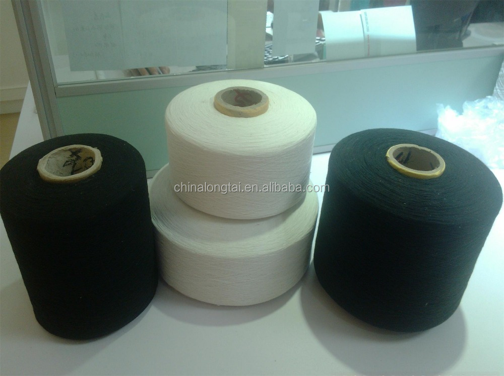 raw dyed cotton yarn/polyester cotton recycled yarn