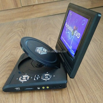 mini classic style 7'' LCD screen portable dvd player with TV tuner
