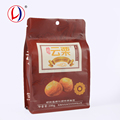 Resealable Chestnut Packaging Flexible Design Your Own Plastic Bag With Flat Bottom
