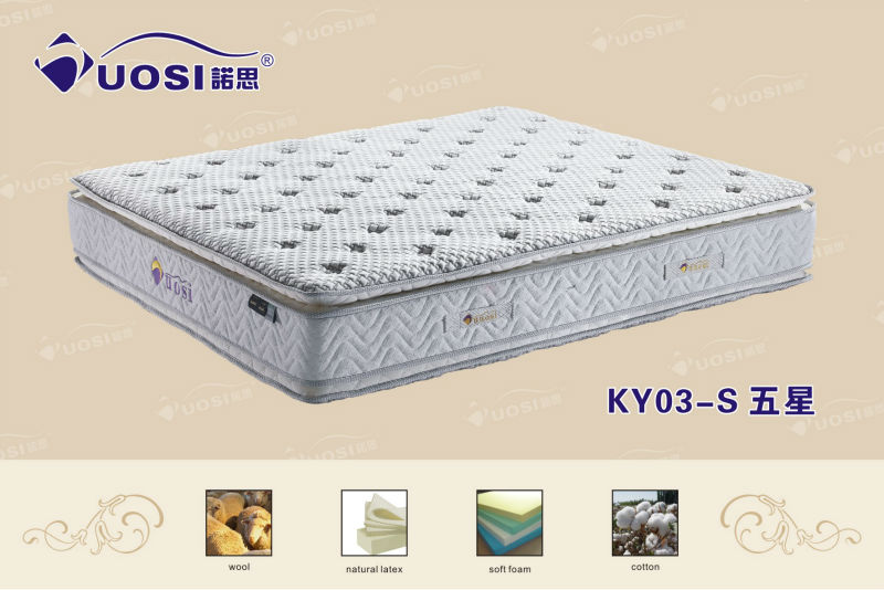 2013 patent design continuous spring diamond mattress prices KY03-5stars