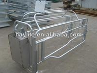 Pig hot dip galvanized finishing pen