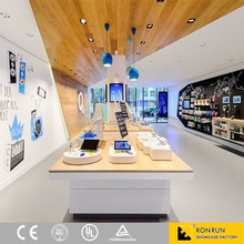 Modern mobile phone retail store decoration MDF display counter and cabinet