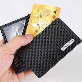 TUOPUKE new fashion design rfid blocking carbon fiber wallet