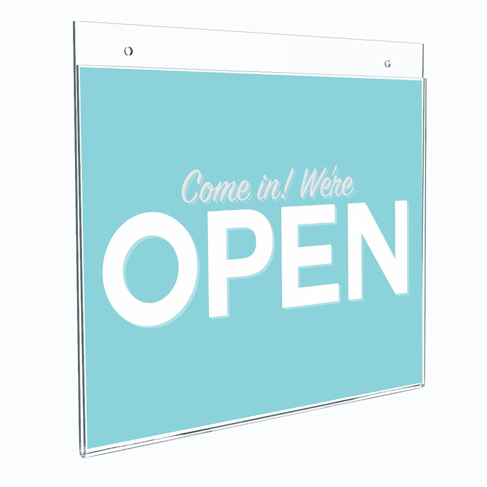 Custom 8.5 x 11 Acrylic Wall Mount Sign Holder with Adhesive Wholesale