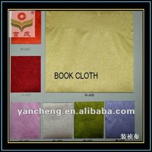 shaoxing yanchengtex supply paper backed fabric cloth cover book