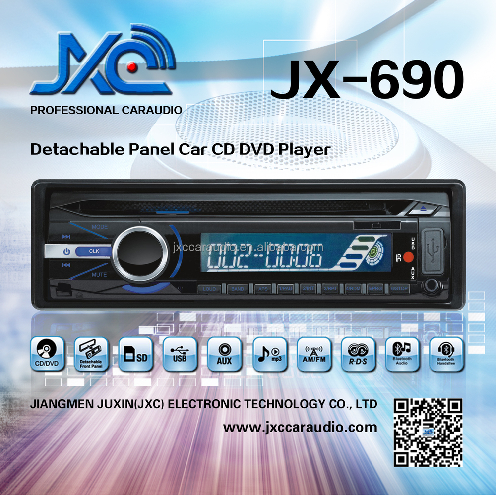 JX-690 1 Din Detachable Car CD/DVD with high power 50Wx4 for universal car audio